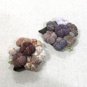 수국 브로치(2개분량)- 인형솜 별매